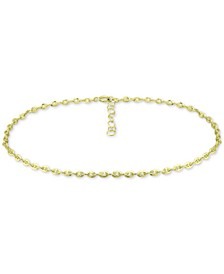 Mariner Link Ankle Bracelet in Sterling Silver and 18k Gold Over Silver, Created for Macy's
