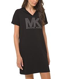Printed Logo Hoodie Dress
