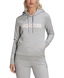 adidas Women's Essentials Linear Fleece Hoodie