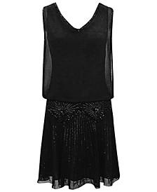 Beaded V-Neck Dress