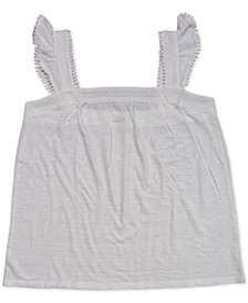 Embroidered Flutter-Strap Tank Top, Created for Macy's