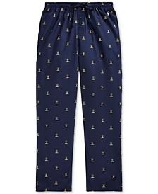 Men's Classic Printed Woven Pajama Pants