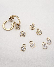 Interchangeable Charm and Hoop Earring Collection in Sterling Silver & 14k Gold