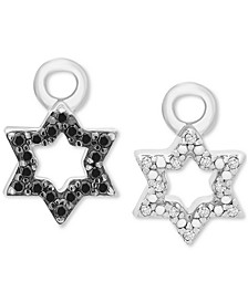 Diamond Star of David Rotating Earring Charms (1/10 ct. t.w.) in Sterling Silver