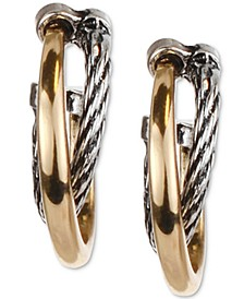 Two-Tone Double-Row Hoop Earrings, Created for Macy's