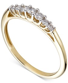 Diamond 7-Stone Band (1/4 ct. t.w.) in 14k Gold
