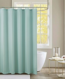"""Lindale Textured Jacquard 70"""" X 72"""" Shower Curtain with Roller Hooks, Set of 13"""