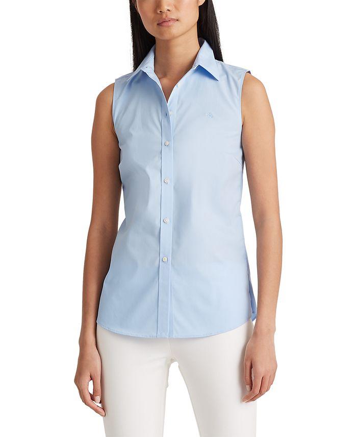Lauren Ralph Lauren - Petite Stretch Sleeveless Shirt