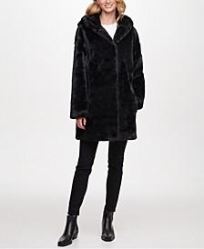 Hooded Faux-Fur Coat