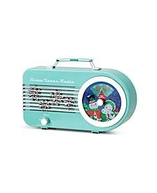 Mr Christmas Vintage Teal North Pole Radio