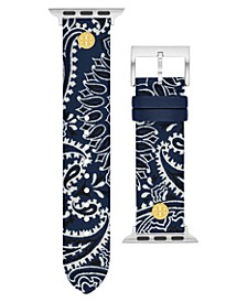 Women's Navy Bandana-Print Band For Apple Watch® Leather Strap 38mm/40mm