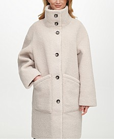 Reversible Faux-Shearling-Lined Coat