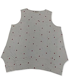 Plus Size Printed Handkerchief-Hem Tank Top, Created for Macy's