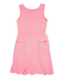 Little Girls Solid Dress