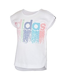 Little Girls Short Sleeve Slit Tee