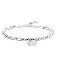 Fine Silver Plate Heart Charm Bracelet