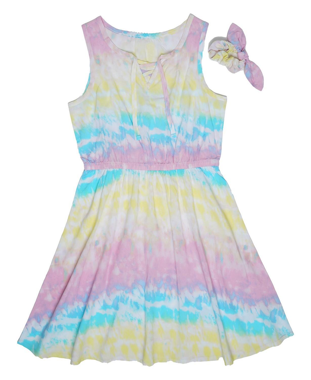 Big Girls Tie Dye Lace Up Dress- SO CUTE! .20! FREE SHIPPING @ !