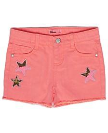 Little Girls Star Flip Denim Shorts