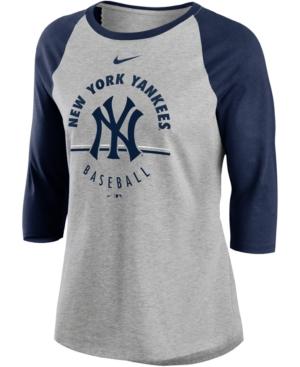 Nike Women's New York Yankees Encircled Tri-blend Raglan Shirt