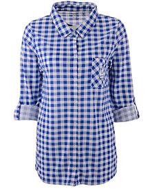 Concepts Sport Women's Los Angeles Dodgers Wanderer Plaid Shirt