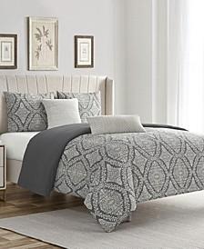 Zoey Cotton Chenille King/California King 5 Piece Comforter Set