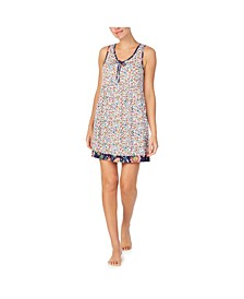 Women's Sleeveless Floral Chemise