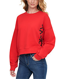 DKNY Jeans Cotton French Terry Sweatshirt