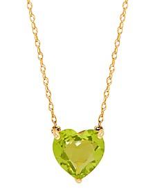 "Gemstone Heart 18"" Pendant Necklace in 10k Gold"