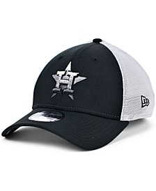 Men's Houston Astros Black White Gradient Trucker 39THIRTY Cap