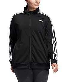 Plus Size Full-Zip Tricot Jacket