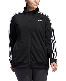 adidas Plus Size Full-Zip Tricot Jacket