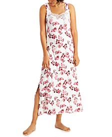 Lace-Trim Sleeveless Maxi Nightgown, Created for Macy's