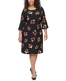 Plus Size Bell-Sleeve Dress