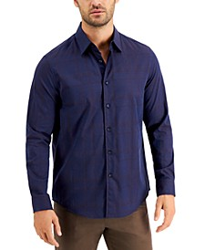 Men's Plaid Paisley Jacquard Shirt, Created for Macy's