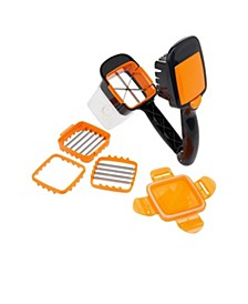 5-in-1 Compact Portable Handheld Kitchen Slicer with Storage Container