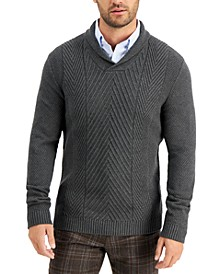 Men's Chunky Shawl Sweater, Created for Macy's