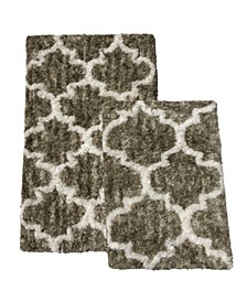 Selina 2-Pc. Quatrefoil Bath Rug Set