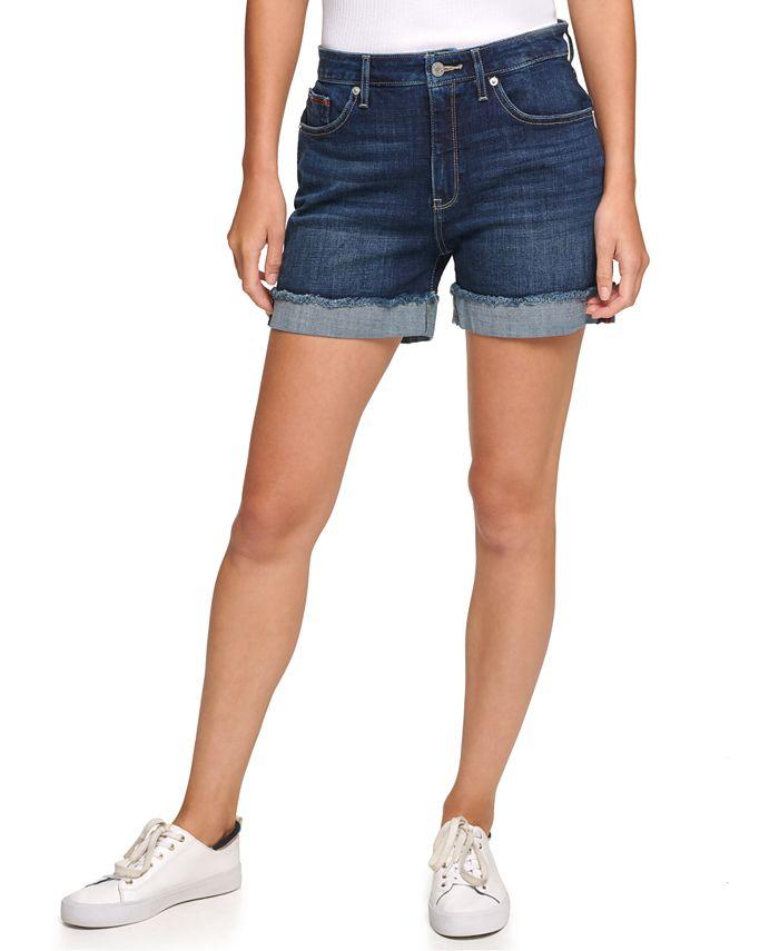 Tommy Jeans - Juniors' High-Rise Denim Shorts
