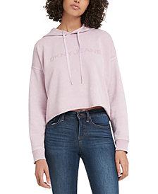 DKNY Jeans Logo Cropped Sweatshirt