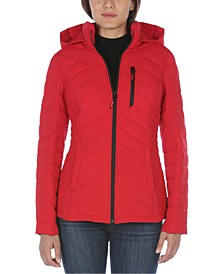 Hooded Packable Water-Resistant Puffer Coat, Created For Macy's
