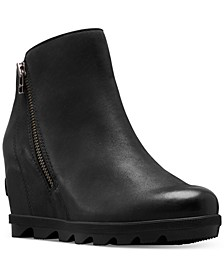 Women's Joan Of Arctic Wedge Zip Booties