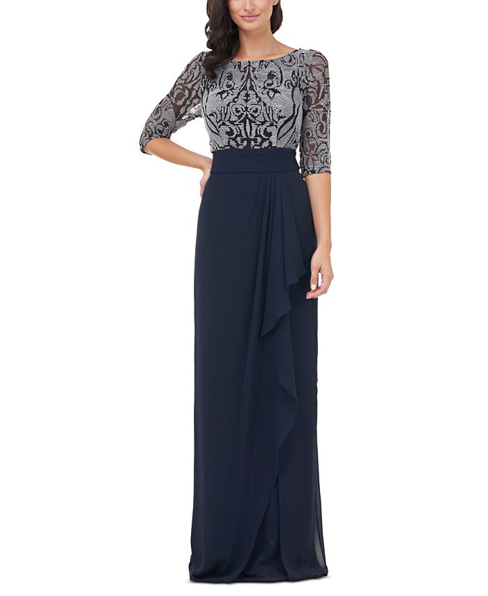 JS Collections - Embellished-Bodice Gown