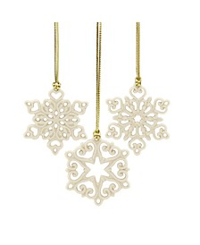 Mini Snowflake 3-piece Ornament Set