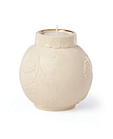 Ornamental Glow Pinecone Votive Candleholder