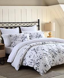 Kentville Floral Full/Queen 3 Piece Comforter Set