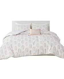Jennifer 4 Piece Full/Queen Comforter Set