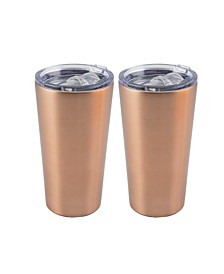 2 Pack of  20 Oz Copper Stainless Steel Highball Tumblers