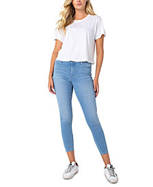 Celebrity Pink Cotton Ankle Skinny Jeans
