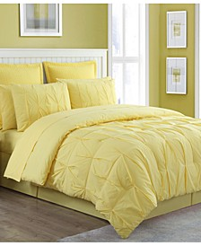 Luna Cotton 4-Pc. Reversible Full Comforter Set