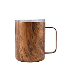 16 Oz Wood Decal Strainless Steel Coffee Mug